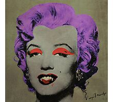 Vampire Marilyn variant 3 Photographic Print