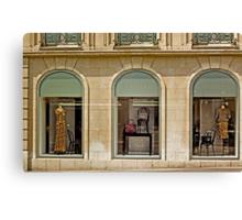Haute Couture Avenue Montaigne Paris France Canvas Print