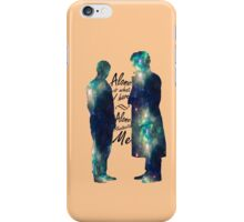 """Johnlock """"ALONE IS WHAT I HAVE"""" iPhone Case/Skin"""