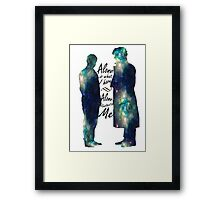 "Johnlock ""ALONE IS WHAT I HAVE"" Framed Print"