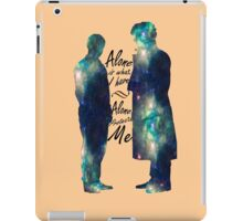 "Johnlock ""ALONE IS WHAT I HAVE"" iPad Case/Skin"