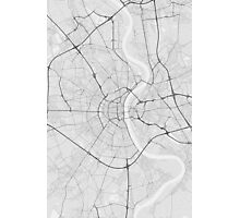 Cologne, Germany Map. (Black on white) Photographic Print