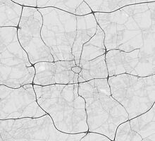 Dortmund, Germany Map. (Black on white) by Graphical-Maps