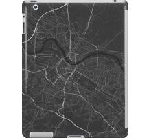 Dresden, Germany Map. (White on black) iPad Case/Skin
