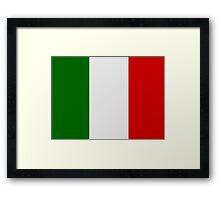 Italian Flag Framed Print