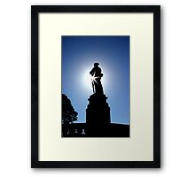 At the going down of the sun Framed Print