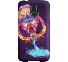 Aquarius - Zodiac Lightburst Samsung Galaxy Case/Skin
