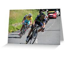 Tour de France 2014 - Valverde & Nibali Greeting Card