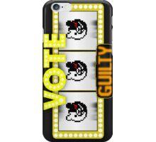 Monokuma guilty slot machine iPhone Case/Skin