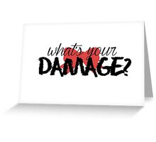 What's Your Damage? (Red Bow) Greeting Card