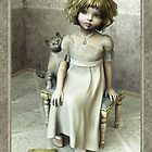 Little girl on footstool by Roberta Angiolani