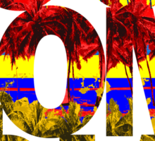Colombia Palms Sticker