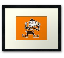 Johnny Manziel Cleveland Browns Elf Version 2 Framed Print