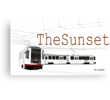 Muni Train in the Sunset Canvas Print