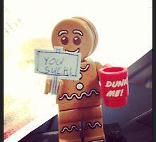 Lego gingerbread man by MonkeyFondue