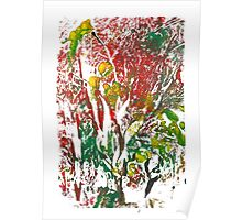 Fruit Tree Monoprint Poster