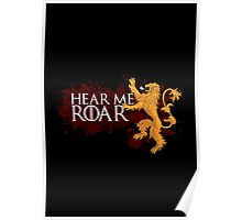 Hear Me Roar - House Lannister Poster