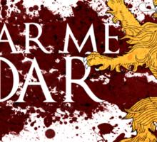 Hear Me Roar - House Lannister Sticker