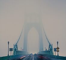 St. Johns Bridge Fog by Cameron Booth