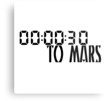 00:00:30 / 30 seconds to mars Metal Print