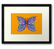 The Cosmic Purple Butterfly Framed Print
