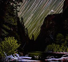 Star Trails and Comet over King's Canyon Stream by Gavin Heffernan