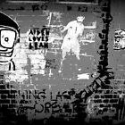 Street Art - The Darker side of Minns lane by bekyimage