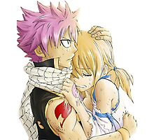 Natsu and Lucy Fairy Tail Photographic Print