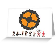 Pixel Fortress 2 - Red Greeting Card