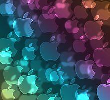 Apple Bokeh Duvet Cover, Poster, Art Print, iPhone Case, Samsung Case, iPad Case, Pillows, Totes by Linda Allan