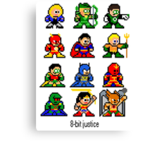 8-bit Justice League Canvas Print