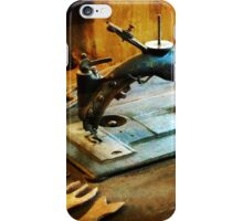 Old Fashioned Sewing Machine iPhone Case/Skin
