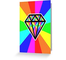 colorful diamond Greeting Card