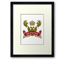 Knight Devoted Framed Print