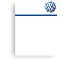 VW Classic Swirl and lines  Canvas Print