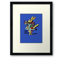 Ask Alice - The White Rabbit 2 - Alices Adventures in Wonderland Framed Print
