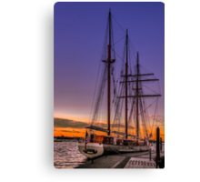Tall Ship Mystic Canvas Print