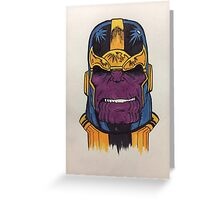 thanos the first Greeting Card