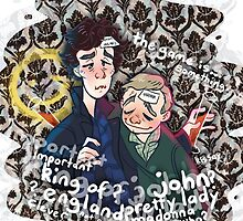 Sherlock - The Stag Night by mmishee-art