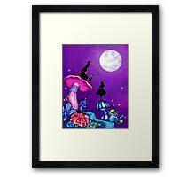 Alice in Wonderland and Caterpillar Framed Print
