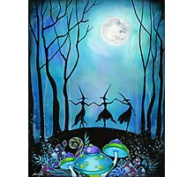 Witches Dancing Under the Moob Photographic Print