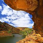 Murchison River and Rock Overhang by Kevin McGennan