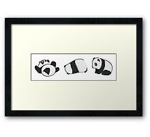 Tumbling Panda Bears (SET) Framed Print
