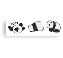 Tumbling Panda Bears (SET) Canvas Print