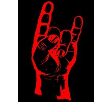 Metal Horns (Large logo) Photographic Print