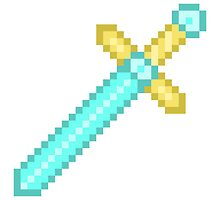 Pixel Art Electric Blue Sword by Dedly13