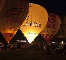 Bristol Balloon Fiest Night Glow by Keith Larby