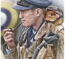 RAF Spitfire Pilot by A. Hermann