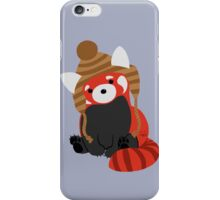 Collin the Beanie-Wearing Red Panda iPhone Case/Skin