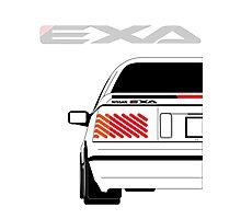 Nissan Exa Coupe - White Photographic Print